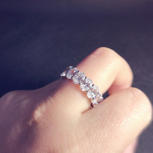 2019 Newest Design Oval Shaped Eternity Band Ring Jewelry for Women
