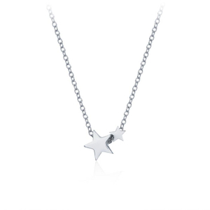 Double Star Necklace in Sterling Silver YCN6879