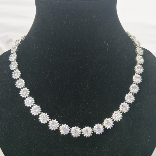 High Quality Silver Necklace and Earring Jewelry Sets SET460