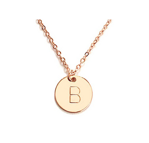 Letter Initial Disc Necklace Mothers Day Gift for Her YCN6787
