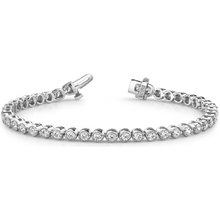 925 Silver Tennis Bezel Setting Bracelet with White CZ YCB254